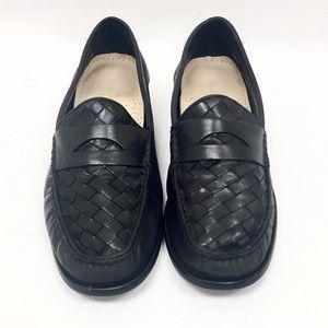 Cole Haan Black Pinch Genevieve Weave Loafer